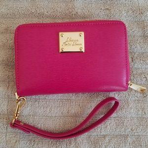 Lauren Ralph Lauren Pink Leather Wrist Wallet
